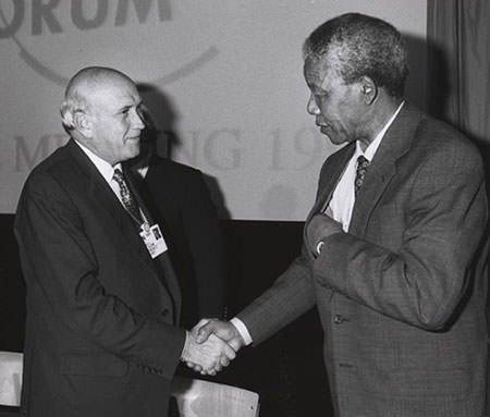 Frederik de Klerk and Nelson Mandela