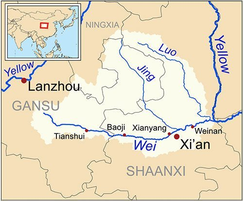 Zhengguo Canal irrigation system map
