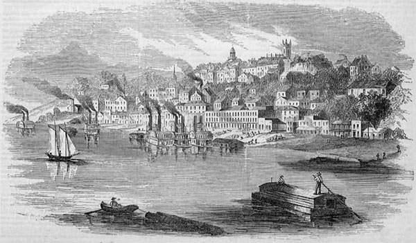 View of Vicksburg, Mississippi, 1855