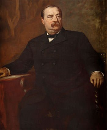 Official portrait of Grover Cleveland as New York Governor