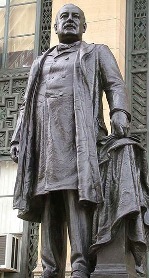 Statue of Grover Cleveland in New York