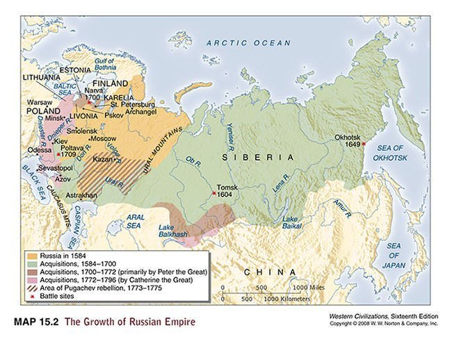 Map of the Russian Empire