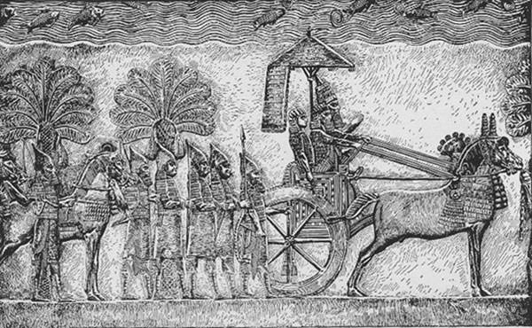 Relief depicting Sennacherib