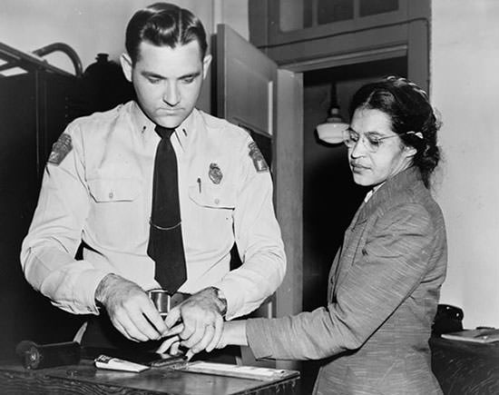 Rosa Parks arrested during the Montgomery bus boycott