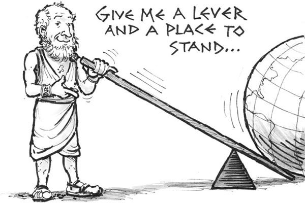 Archimedes moving the earth
