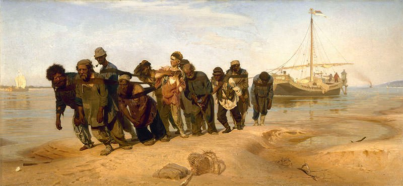 Barge Haulers on the Volga (1873)