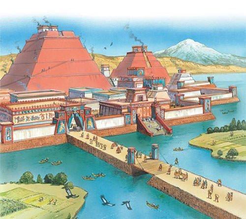 Tenochtitlan causeway