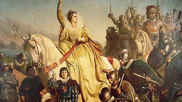 Elizabeth I delivering a speech