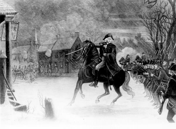 George Washington at the Battle of Trenton
