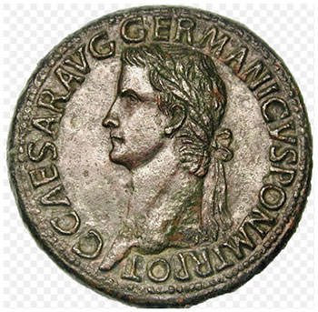 Caligula Roman coin