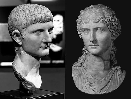 Bust of Caligula's Parents