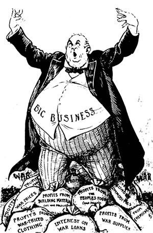 Industrial Revolution Capitalist cartoon