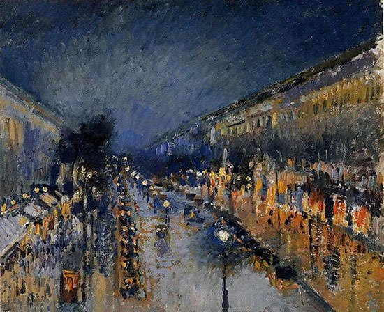 The Boulevard Montmartre at Night (1897)