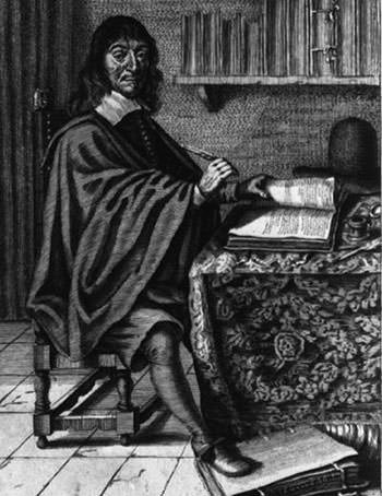 Rene Descartes at work