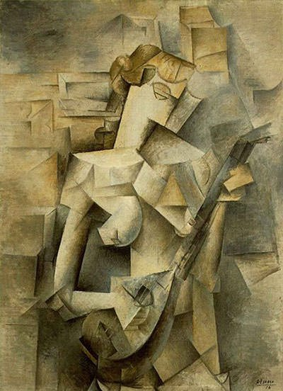 Girl with Mandolin (1910) - Pablo Picasso