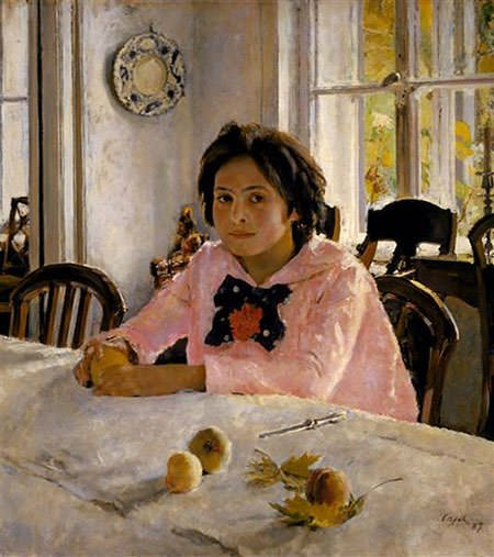 Girl with Peaches (1887)