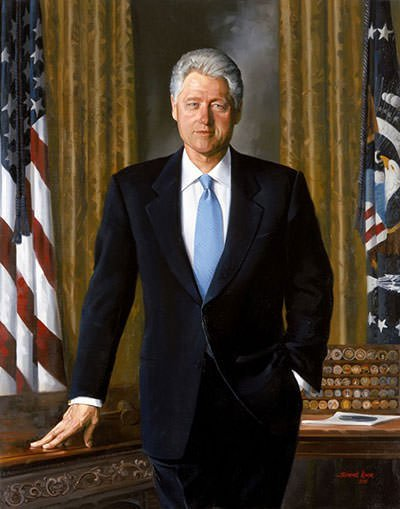 Bill Clinton Presidential Portrait