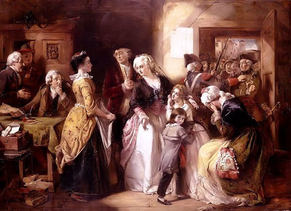 The Arrest of Louis XVI and his family at Varennes