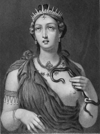Cleopatra VII engraving