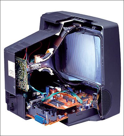 Cathode Ray Tube in a TV