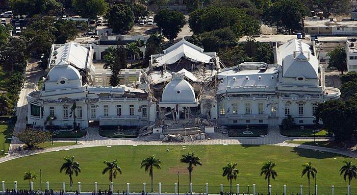 2010 Haiti Earthquake National Palace ruins