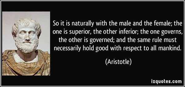 Aristotle misogynist quote