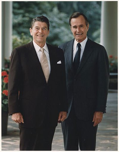 President Reagan and Vice-President Bush