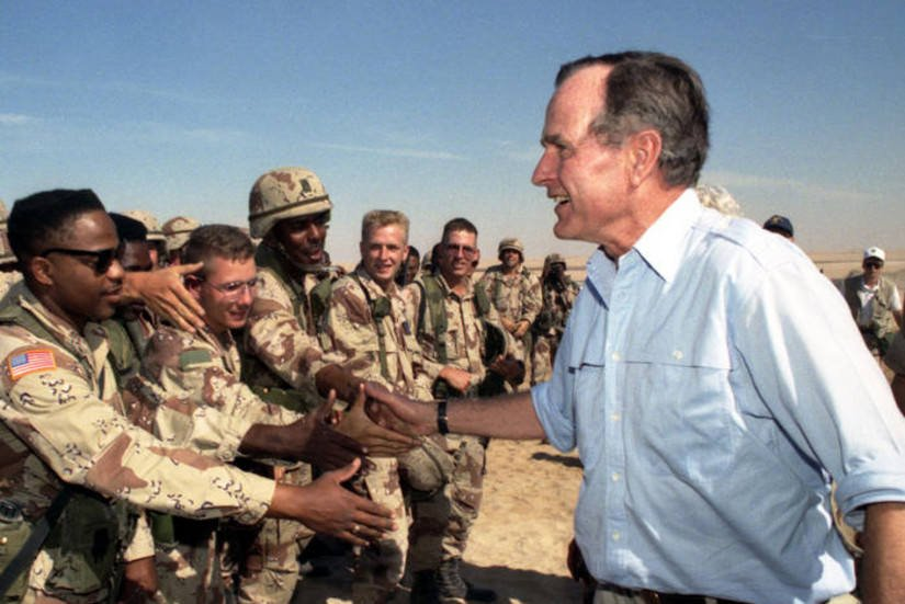President Bush during Gulf War