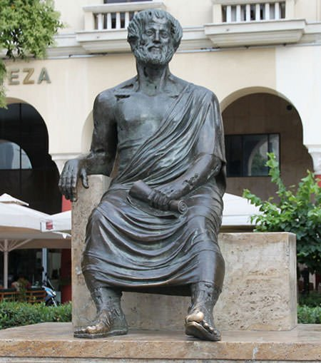 Statue of Aristotle in Greece