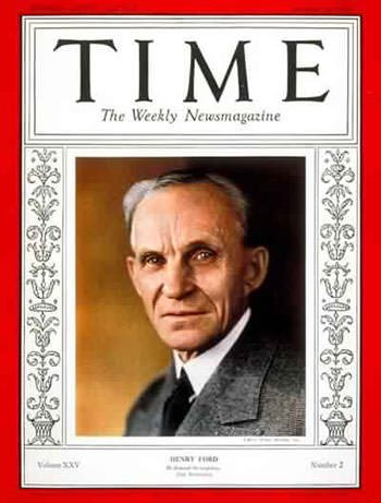 Henry Ford on TIME Magazine
