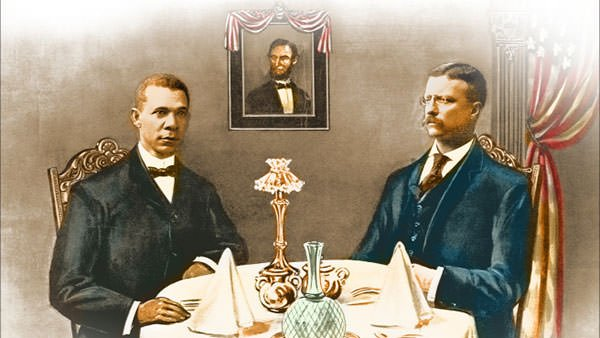 Washington's dinner with Theodore Roosevelt