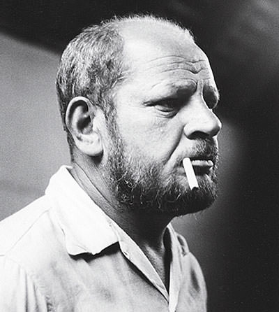 Jackson Pollock in his later years