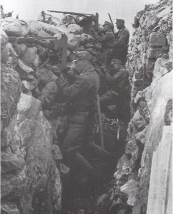 Austro-Hungarian trench at Isonzo