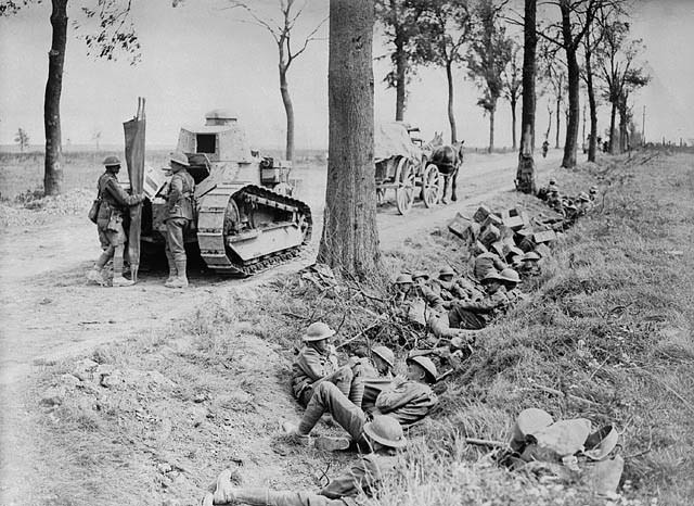 Canadian troops in the Second Battle of Cambrai