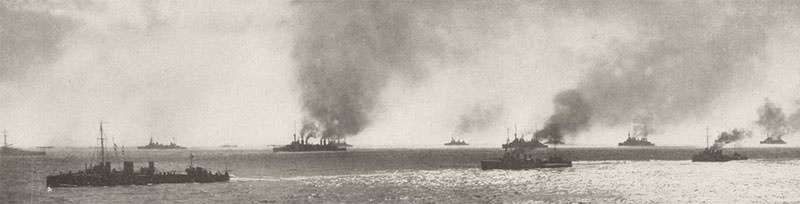 Allied fleet in the Gallipoli Campaign
