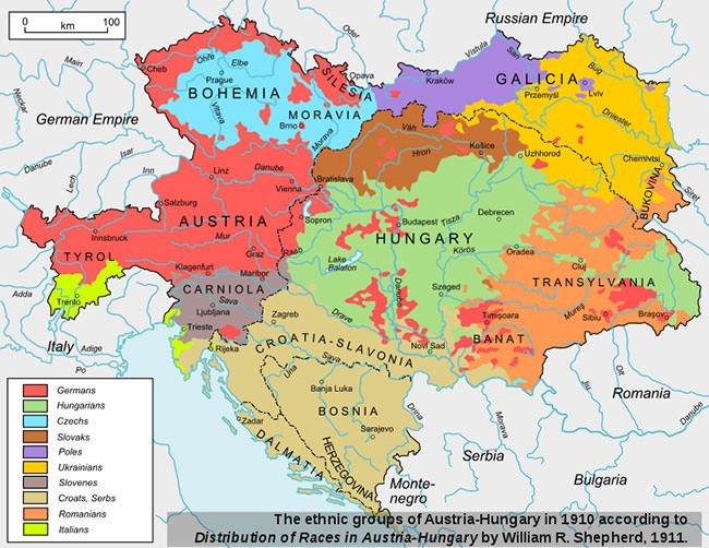 Austria-Hungary ethnic groups in 1910
