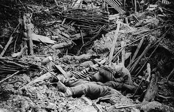 Messines Ridge explosion in WW1