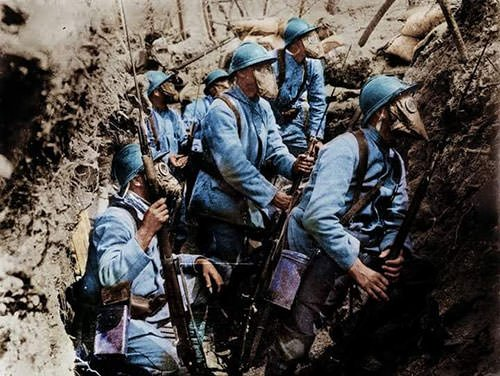 French soldiers in the trenches