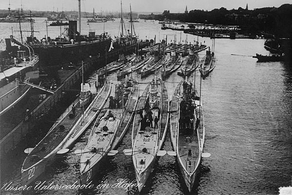 German submarines WW1