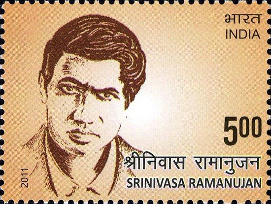 Ramanujan 2011 stamp