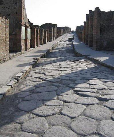 Ancient Roman street, Pompeii