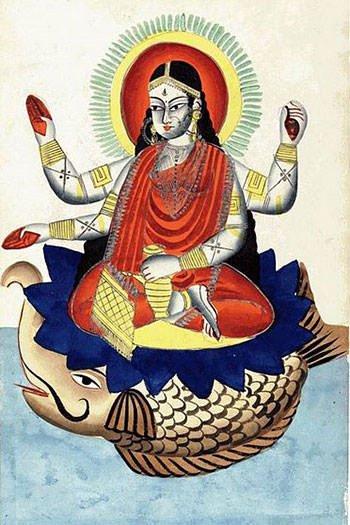 Goddess Ganga on Makara