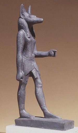 Anubis statue in British Museum