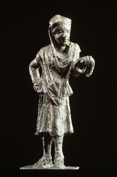 Greek theatre artist statue